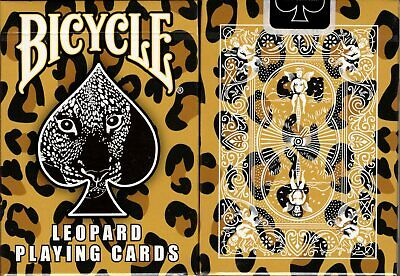 Leopard Deck Bicycle Playing Cards Poker Size USPCC Custom Limited Ed New Sealed