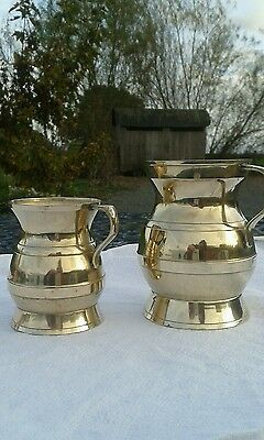 2 Brass Tankards Vintage Decorative & Collectable 1/4 and 1/2 pint size