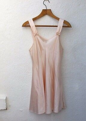 vintage slip pale pink satin silky night dress size 10 St Michael lingerie