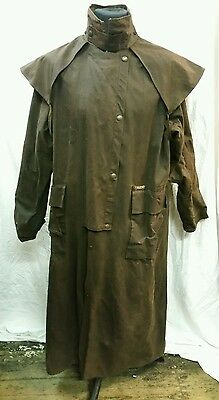 Mens Drizabone Full Length Riding Wax Coat Size Large