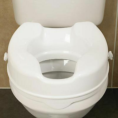 Savanah 4 inch  Raised Toilet Seat without Lid. Elevated Toileting Aid.