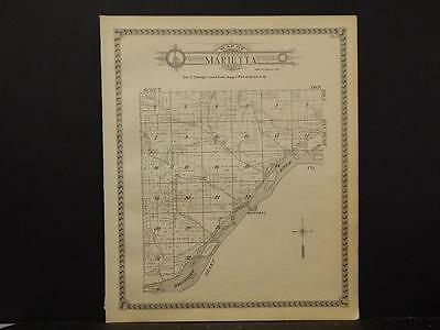 Wisconsin, Crawford County Maps, Eastman Township 1930 Two Double Sided J4#07