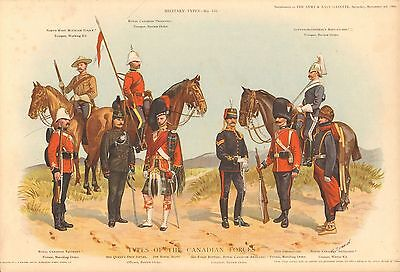 1900 Richard Simkin Military Print, 155 Types of the Canadian Forces