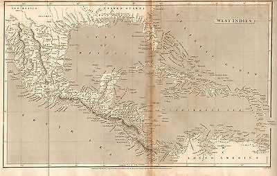 1805 Antique Map- Arrowsmith- West Indies