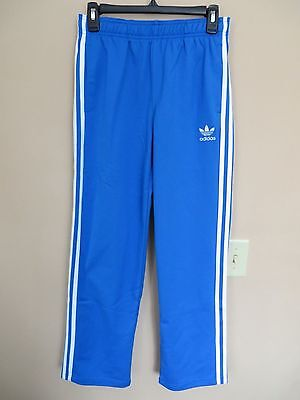 Adidas Sz L Superstar Track Pants Kids S23405 Blue White Juniors Apparel Youth
