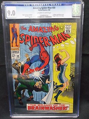 The Amazing Spider-Man #59 Graded 9.0 1st Mary Jane Watson cover.