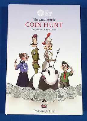 2015 Brand New Royal Mint UK 50p Coin Hunt Album - Sold Out Fifty Pence Folder
