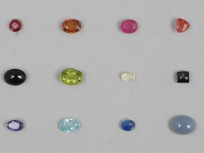 Jewellery Maker Asian Collection Natural Loose Gemstones 12 Different Gems
