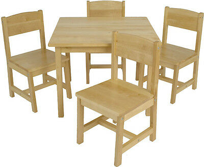 KidKraft Farmhouse Table & 4 Chairs Set, Pecan - 21451