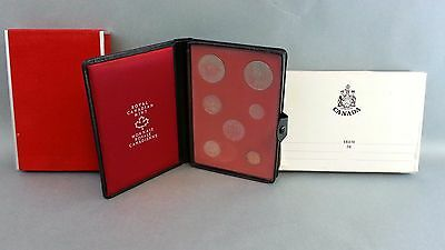 1971 Canada Royal Canadian Mint 7 Coin Double Dollar Proof Set In Display Folder
