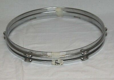"""Pair of 14"""", 6 hole, Chrome Snare Drum Hoops."""