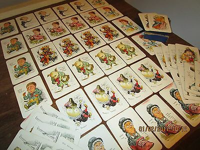 Antique Victorian / Edwardian Childrens illustrated Snap or Old Maid Game