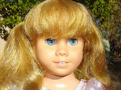"""Vintage 1960 Mattel 20"""" Blond Pigtails Chatty Cathy doll,  Blue eyes! EUC!!"""