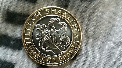 2016 Uk Royal Mint William Shakespeare Comedies Two Pound Coin £2