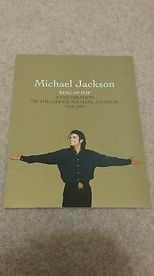 Michael Jackson This Is It Gold Programme - A Celebration Of Life