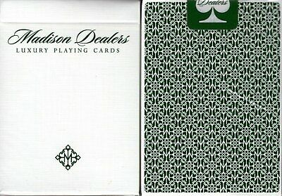 Madison Dealers Green Deck Playing Cards Poker Size USPCC ellusionist Custom New