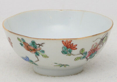 19th century Chinese famille rose porcelain bowl / cup