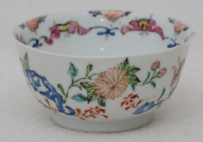 Chinese 18th century famille rose porcelain cup / bowl
