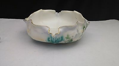 RS Prussia Satin Swans low centerpiece / cabbage bowl - HTF