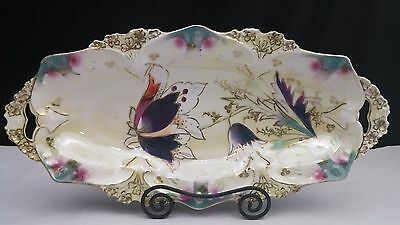 R.S.Prussia Celery Platter Tray  Point and Clover Mold