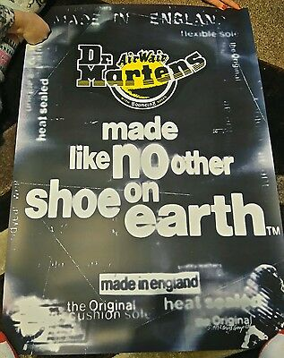 Large Dr Martens Poster, Excellent Condition - 1997