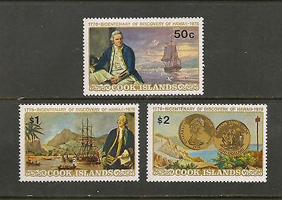Cook Islands #480-482 VF MNH - 1978 50c to $2 Captain Cook - SCV $5.00