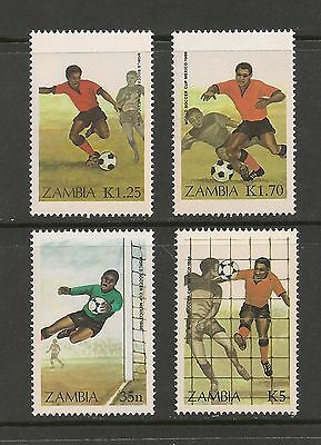 Zambia #350-353 VF MNH - 1986 35n to 5k World Cup Soccer Mexico SCV $9.60