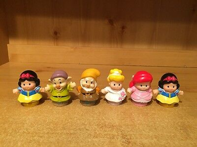 Fisher Price Little People Disney Princess Lot Of 6 Figures