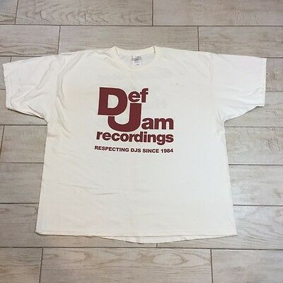 "DEF JAM RECORDS ""Greed is Good"" Graphic Vintage T-Shirt 3XL Double Sided Rap Tee"