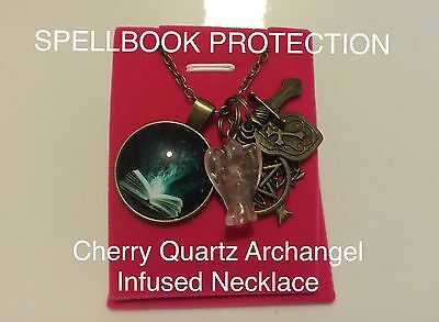 00011 SPELLBOOK PROTECTION Quartz Archangel Infused Necklace™ Doreen Virtue