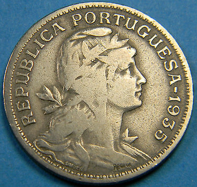 PORTUGAL 50 CENTAVOS 1935 - Azores Key Date