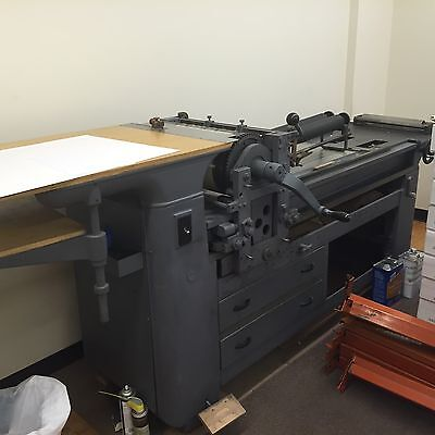 Vandercook Ab219 Adjustable Bed Press