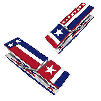 NEW 2-pack BOCA CLIPS vacation AMERICANA towels FLAG chairs CRUISE beach STARS