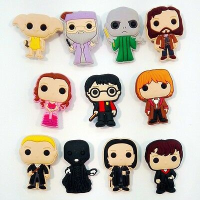 100pcs Harry potter PVC Shoe Charms Accessories Fit Cro c&J ibbitz Christmas