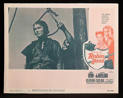 ADVENTURES OF ROBIN HOOD 1956 Lobby Card Errol Flynn Classic Adventure!