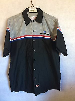 Red Kap GoodWrench Men's Work Shirt Auto Mechanic Uniform Short Sleeve Large #L