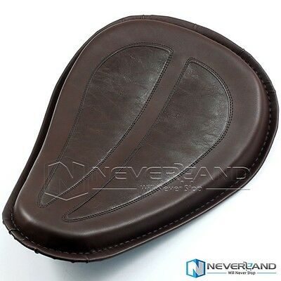 Motorbike PU Leather Solo Saddle Seat For Harley Dyna Glide 48 72 04-14 Brown