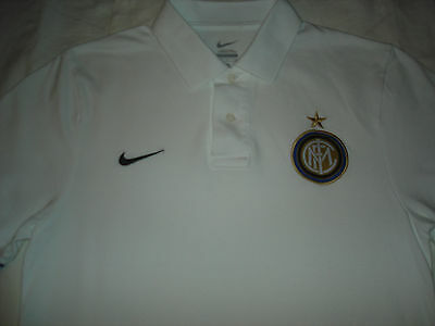 Inter Milan Football Polo Shirt Nike Size Adult Small Internazionale Italy
