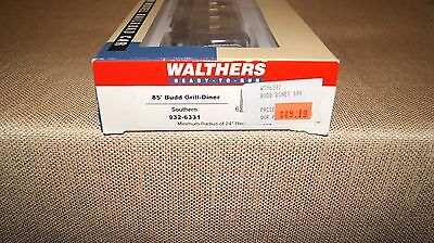 NIB Walthers HO 932-6331 Southern 85' Budd Grill-Diner