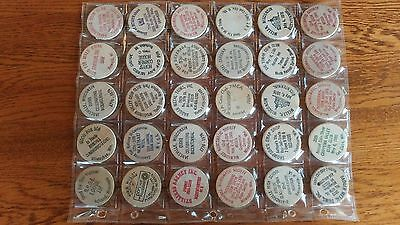 30 Wisconsin Wooden Nickels Lot  DC