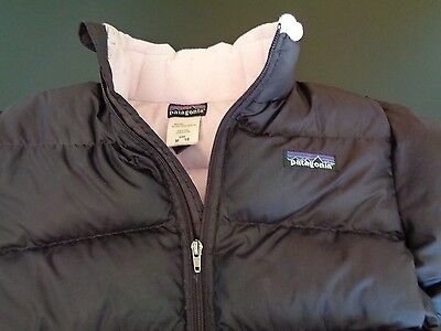 PATAGONIA Girls MEDIUM 10 Puffer GOOSE DOWN Jacket FREE SHIPPING Purple Plum