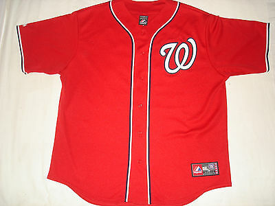 Washington Nationals Baseball Shirt Size Xl Bryce Harper 34 Mlb Majestic Usa