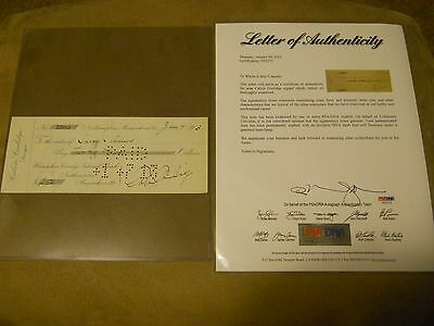 CALVIN COOLIDGE SIGNED CHECK Jan. 4 1913 PSA/DNA LOA AUTHENTIC AUTO PRESIDENT