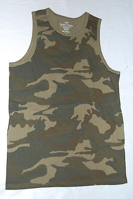 BOYS Tank Top Size 18 2XL Green CAMOUFLAGE