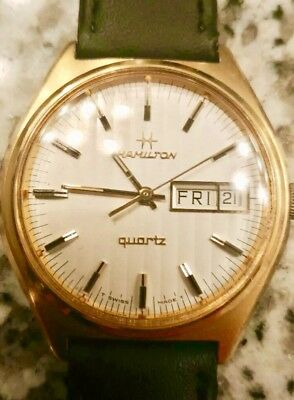 Vintage Hamilton 10k Gold Plated Watch - Excellent!