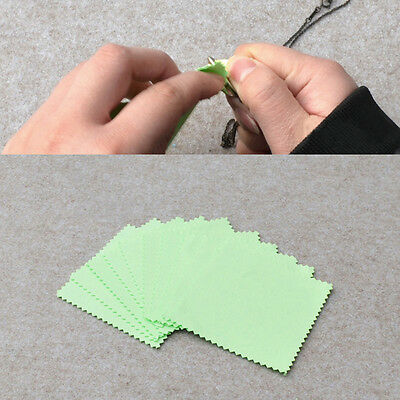 10Pcs Jewelry Sterling Silver Gold Platinum Watch Cleaning Polishing Cloth