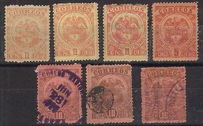 Colombia - 1899 Issues - Scott 162 to 164 - Various Used in Mixed Condition