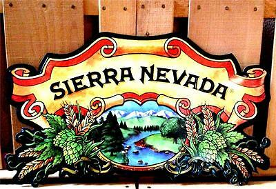SIERRA NEVADA BEER BREWING MOUNTAINS SCENIC METAL TACKER 11x19 TIN WALL SIGN NEW