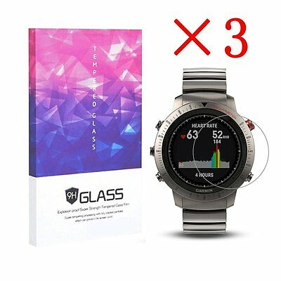 For Garmin Fenix Chronos Tempered Glass Screen Protector 9H Hardness (3 pcs)