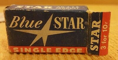 Blue Star Shaving Razor Blades Single Edge Percision Products Vintage